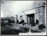 Photograph of Outer Courtyard of Cardston Alberta Temple
