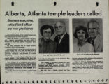 Alberta, Atlanta Temple Leaders Called
