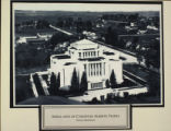 Aerial View of Cardston Alberta Temple, Year Unknown
