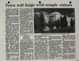 Town Will Bulge with Temple Visitors