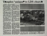 Temples 'Unique' to LDS Church