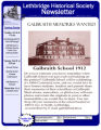 Newsletter - Lethbridge Historical Society, Southern Alberta Chapter of the Historical Society of Alberta (2012)