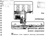 The Lethbridge general plan : public responses, 1977