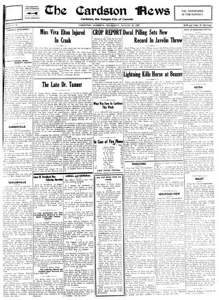 Cardston News (August 25, 1927)