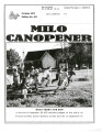 Milo Canopener (October 1, 2013)