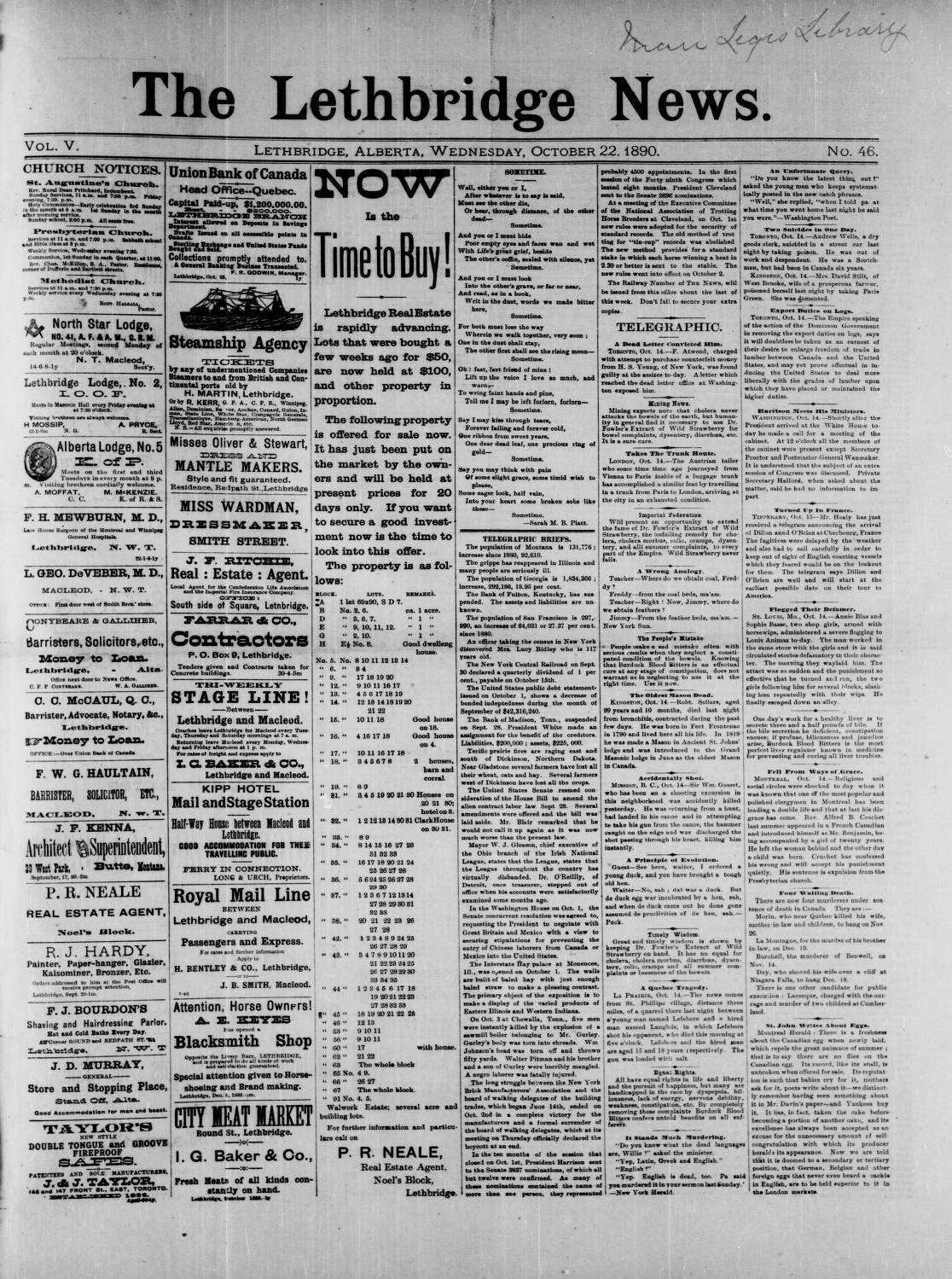 page 01 - Southern Alberta Newspaper Collection - University
