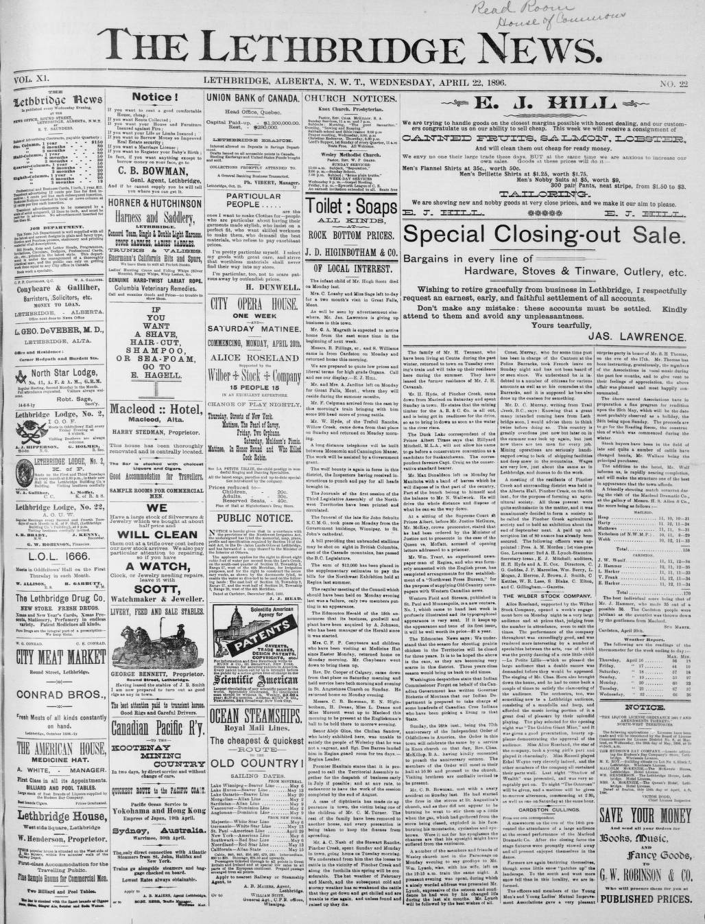 00dee969c0 page 01 - Southern Alberta Newspaper Collection - University of ...