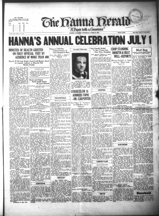 Hanna Herald - Southern Alberta Newspaper Collection