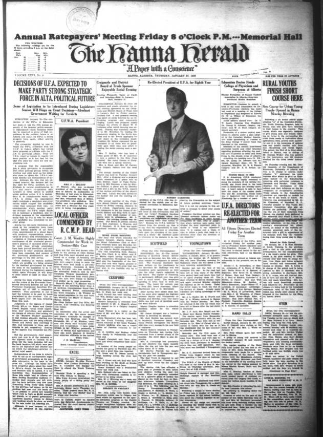Hanna Herald - Southern Alberta Newspaper Collection - University of