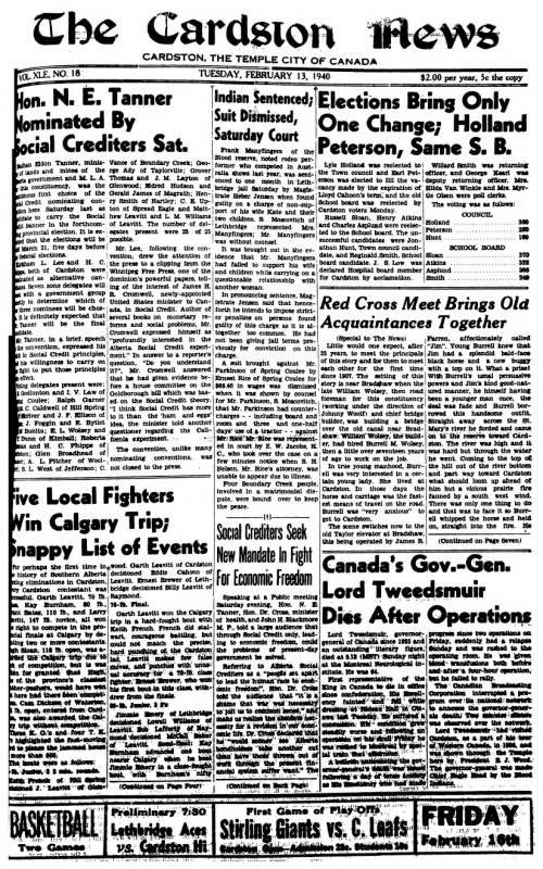 Cardston News (February 13, 1940) - Southern Alberta Newspaper